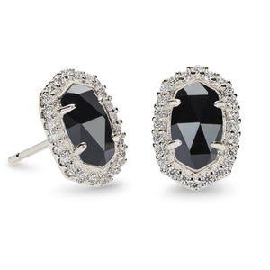 Kendra Scott Cade Stud Earrings - Black & Silver